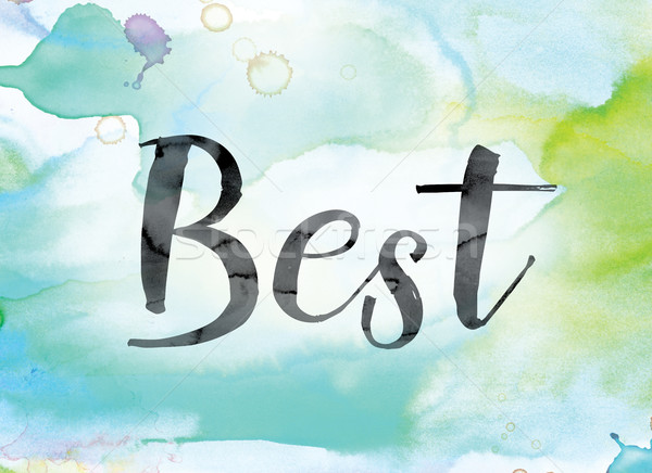 Best Colorful Watercolor and Ink Word Art Stock photo © enterlinedesign