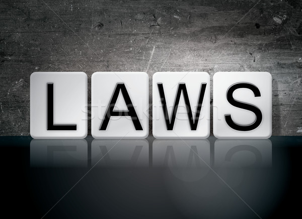 Laws Tiled Letters Concept and Theme Stock photo © enterlinedesign