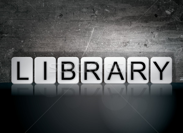 Library Tiled Letters Concept and Theme Stock photo © enterlinedesign
