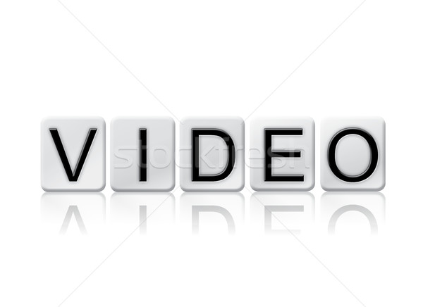 Video Isolated Tiled Letters Concept and Theme Stock photo © enterlinedesign