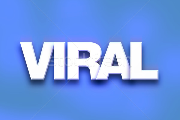 Viral Concept Colorful Word Art Stock photo © enterlinedesign