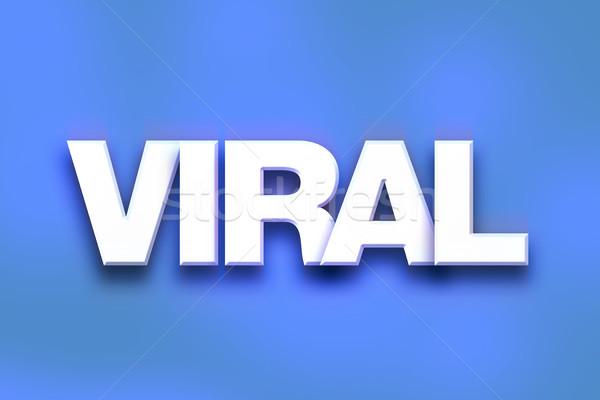 ウイルスの カラフル 言葉 芸術 書かれた 白 ストックフォト © enterlinedesign