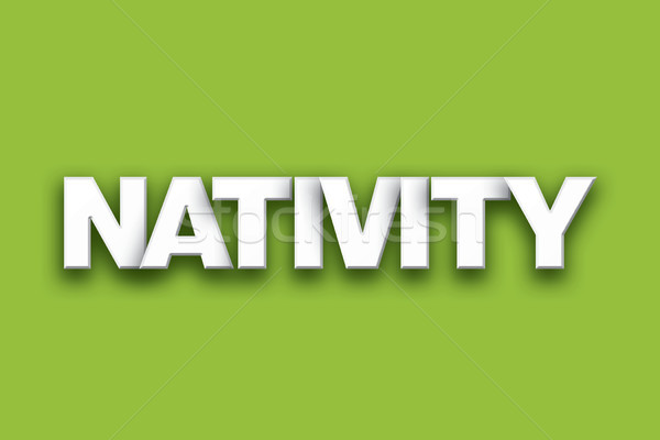 Nativity Theme Word Art on Colorful Background Stock photo © enterlinedesign