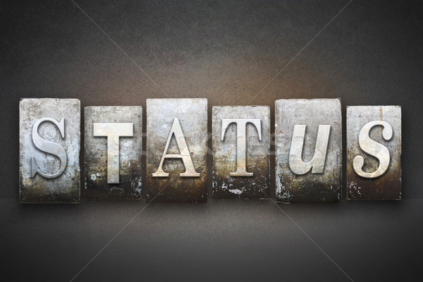 Status Letterpress Stock photo © enterlinedesign