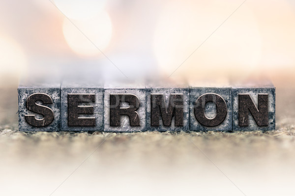 Sermon Concept Vintage Letterpress Type Stock photo © enterlinedesign