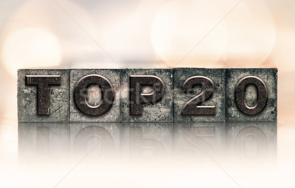 Top 20 Concept Vintage Letterpress Type Stock photo © enterlinedesign