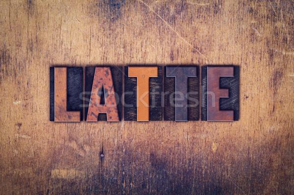 Legno tipo parola scritto sporca Foto d'archivio © enterlinedesign