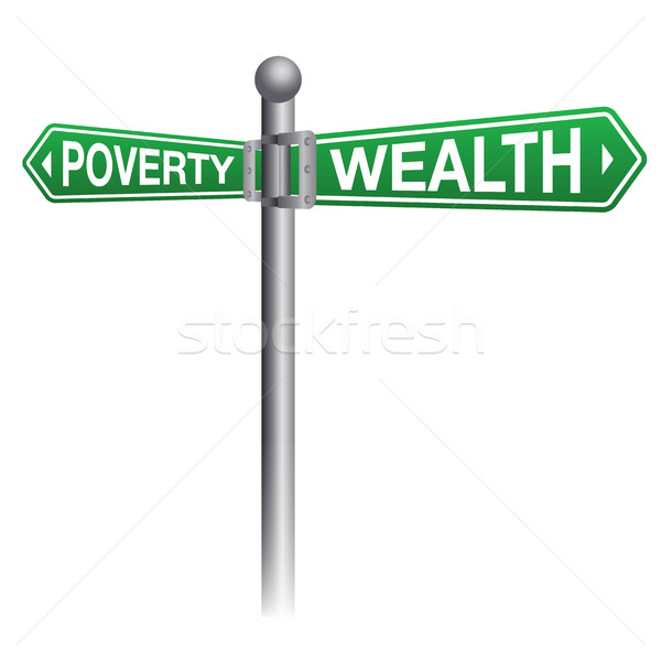 Wealth and Poverty Sign Concept Stock photo © enterlinedesign