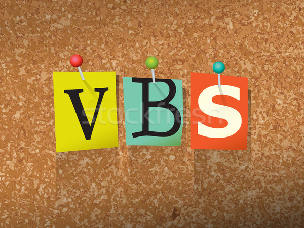 VBS Pinned Paper Concept Illustration Stock photo © enterlinedesign