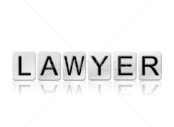 Lawyer Isolated Tiled Letters Concept and Theme Stock photo © enterlinedesign