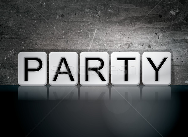 Party Tiled Letters Concept and Theme Stock photo © enterlinedesign