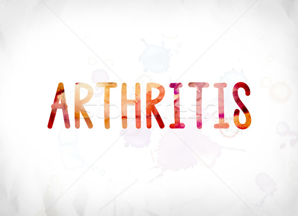 Arthritis Concept Painted Watercolor Word Art Stock photo © enterlinedesign