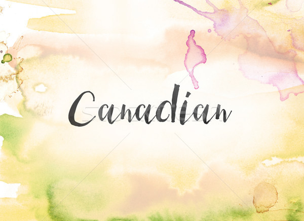 Canadian Concept Watercolor and Ink Painting Stock photo © enterlinedesign