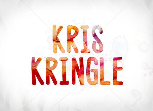 Kris Kringle Concept Painted Watercolor Word Art Stock photo © enterlinedesign