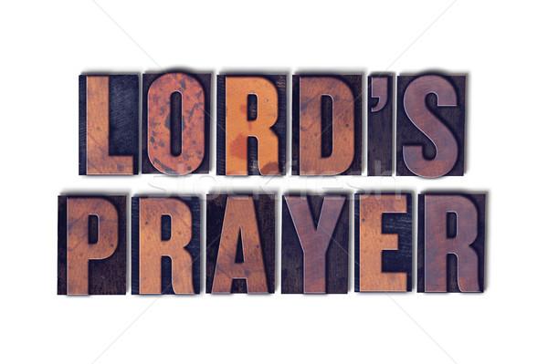 Gebed geïsoleerd woord woorden geschreven Stockfoto © enterlinedesign