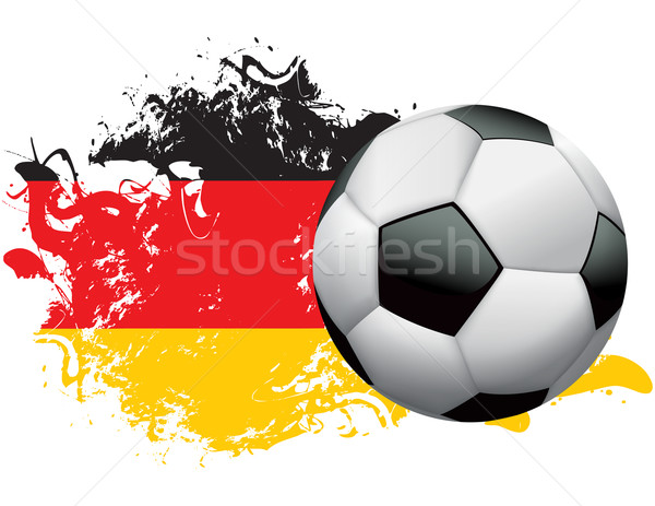 Germany Soccer Grunge Design Stock photo © enterlinedesign
