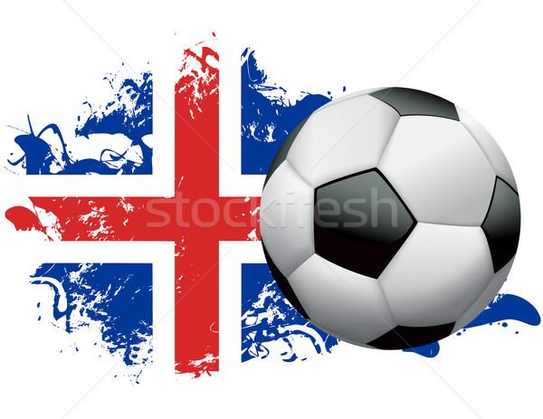Iceland Soccer Grunge Design Stock photo © enterlinedesign