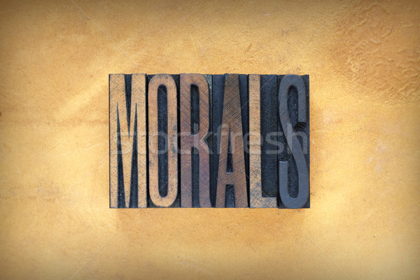 Morals Letterpress Stock photo © enterlinedesign
