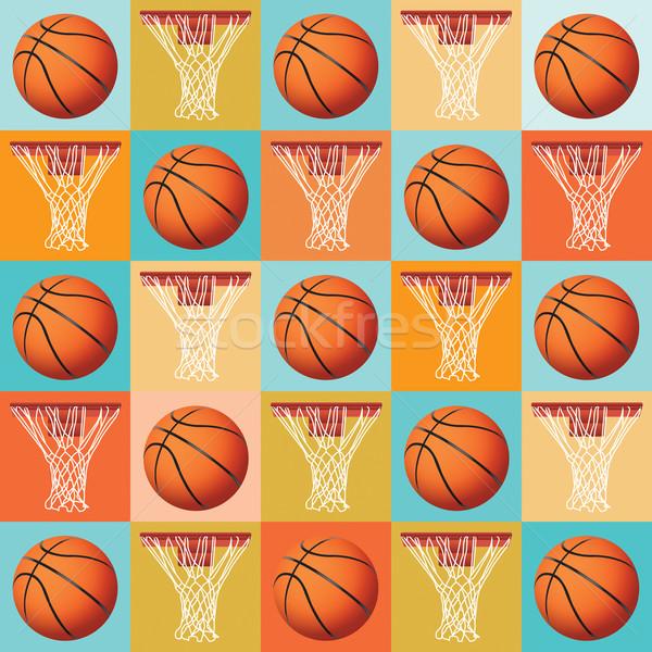 Basketball Pattern Background Stock photo © enterlinedesign