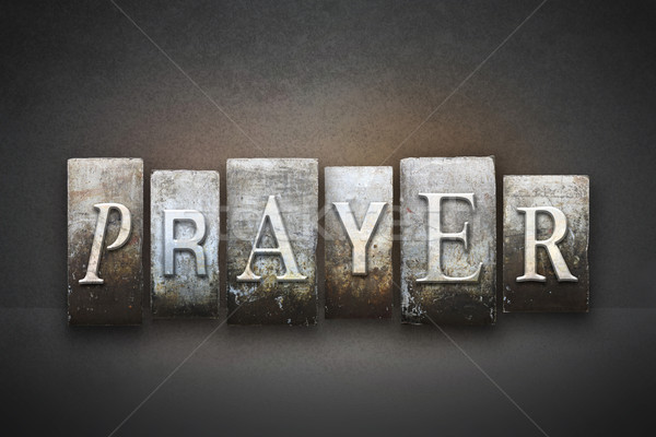 Prayer Letterpress Stock photo © enterlinedesign