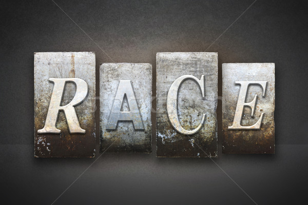 Race Letterpress Stock photo © enterlinedesign