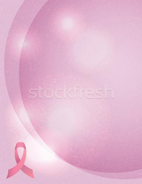 Breast Cancer Awareness Background Illustration Stock photo © enterlinedesign