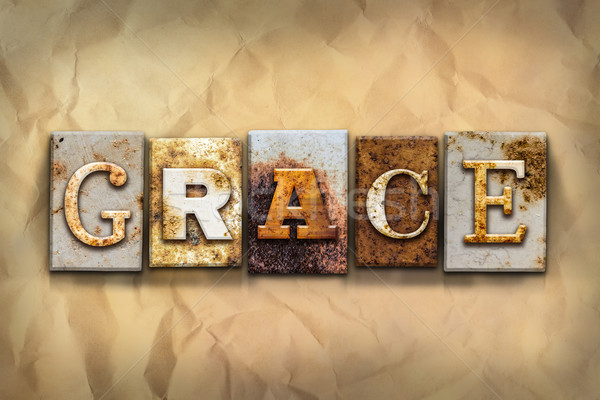 Grace Concept Rusted Metal Type Stock photo © enterlinedesign