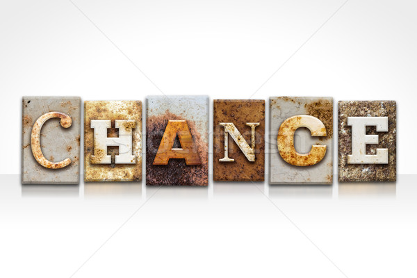 Chance Letterpress Concept Isolated on White Stock photo © enterlinedesign