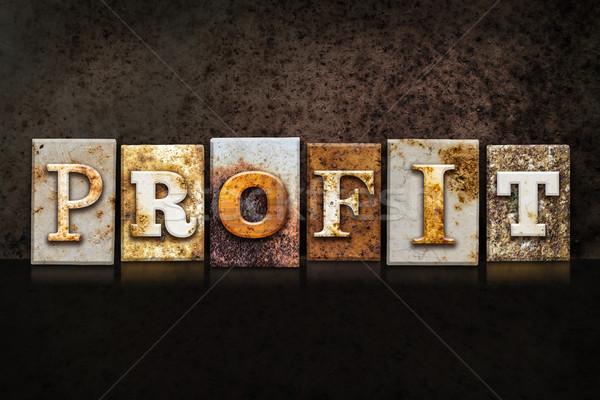 Profit Letterpress Concept on Dark Background Stock photo © enterlinedesign