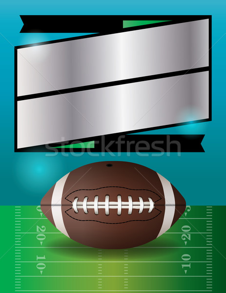 Vector American Football Party Illustration Stock photo © enterlinedesign
