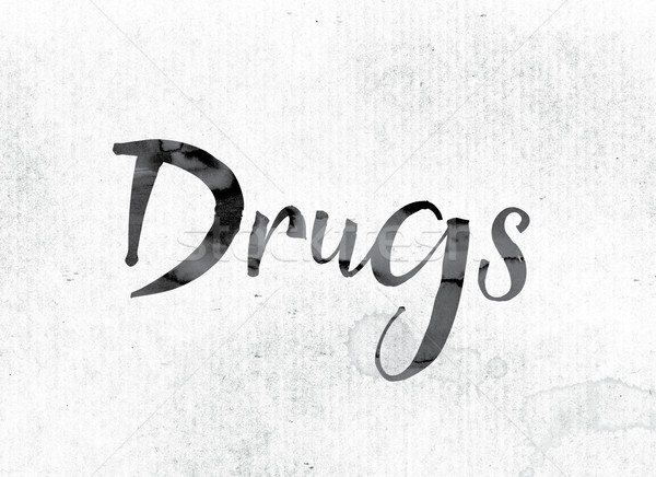 Drugs Concept Painted in Ink Stock photo © enterlinedesign