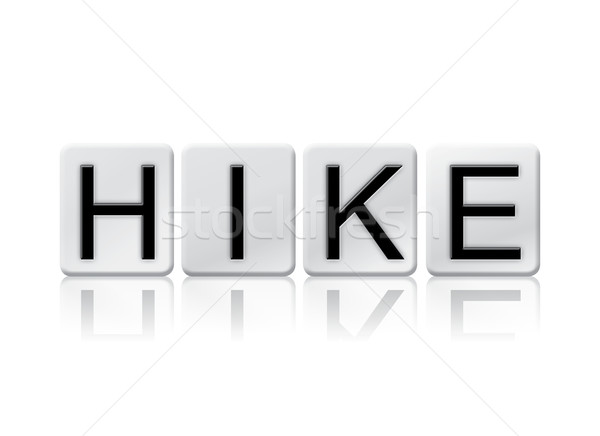 Stock photo: Hike Isolated Tiled Letters Concept and Theme