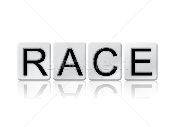 Race Isolated Tiled Letters Concept and Theme Stock photo © enterlinedesign