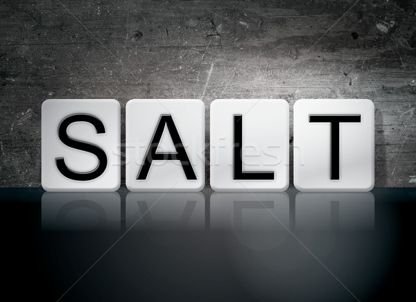 Salt Tiled Letters Concept and Theme Stock photo © enterlinedesign