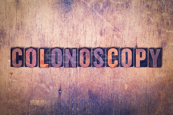Colonoscopy Concept Painted Watercolor Word Art Stock photo © enterlinedesign