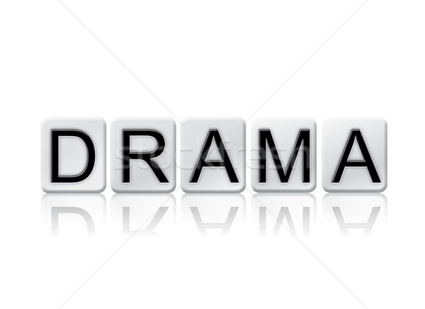 Drama Concept Tiled Word Isolated on White Stock photo © enterlinedesign