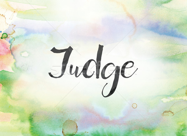 Judge Concept Watercolor and Ink Painting Stock photo © enterlinedesign