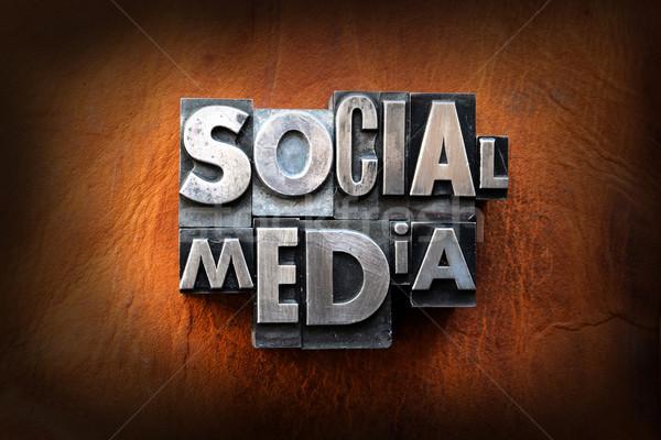 Stock fotó: Közösségi · média · szavak · klasszikus · magasnyomás · bőr