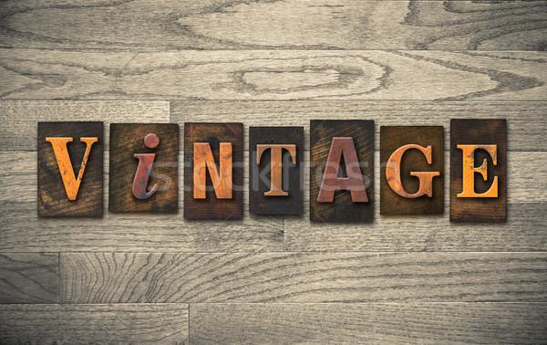 Wooden Letterpress Concept Stock photo © enterlinedesign