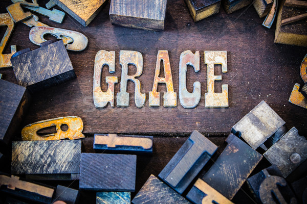 Grace Concept Rusty Type Stock photo © enterlinedesign