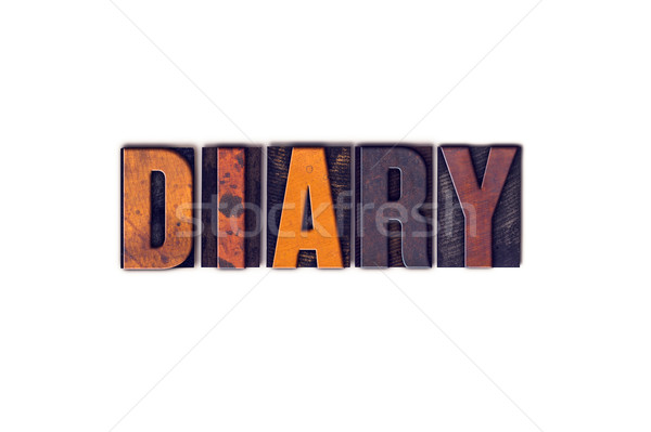 дневнике изолированный тип слово написанный Сток-фото © enterlinedesign