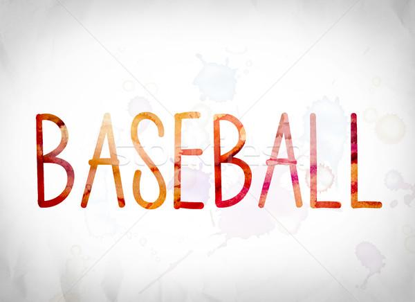 Baseball Concept Watercolor Word Art Stock photo © enterlinedesign
