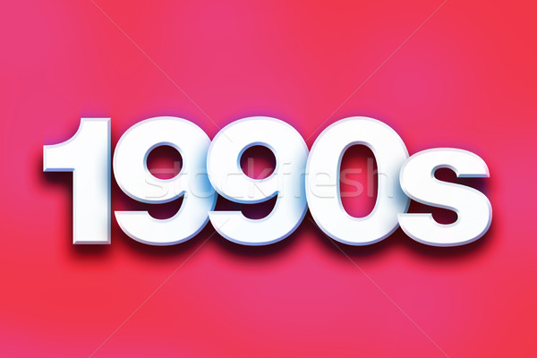 1990s Concept Colorful Word Art Stock photo © enterlinedesign