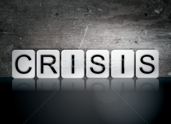 Crisis Tiled Letters Concept and Theme Stock photo © enterlinedesign