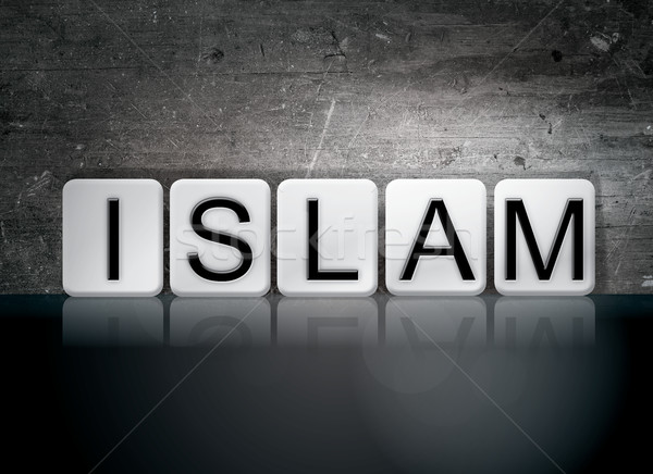 Islam Tiled Letters Concept and Theme Stock photo © enterlinedesign