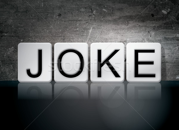 Joke Tiled Letters Concept and Theme Stock photo © enterlinedesign
