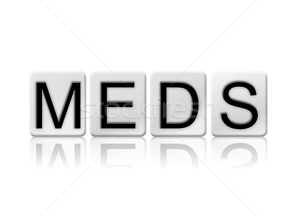 Meds Isolated Tiled Letters Concept and Theme Stock photo © enterlinedesign