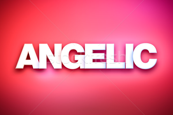Angelic Theme Word Art on Colorful Background Stock photo © enterlinedesign