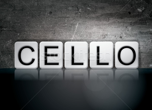 Cello Concept Tiled Word Stock photo © enterlinedesign