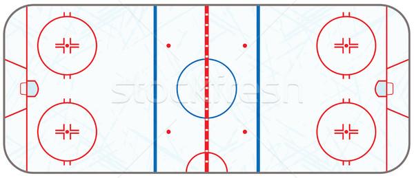 Wektora hokej skate realistyczny eps Zdjęcia stock © enterlinedesign